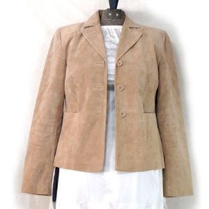 Ann Taylor LOFT 100% Leather Suede Blazer